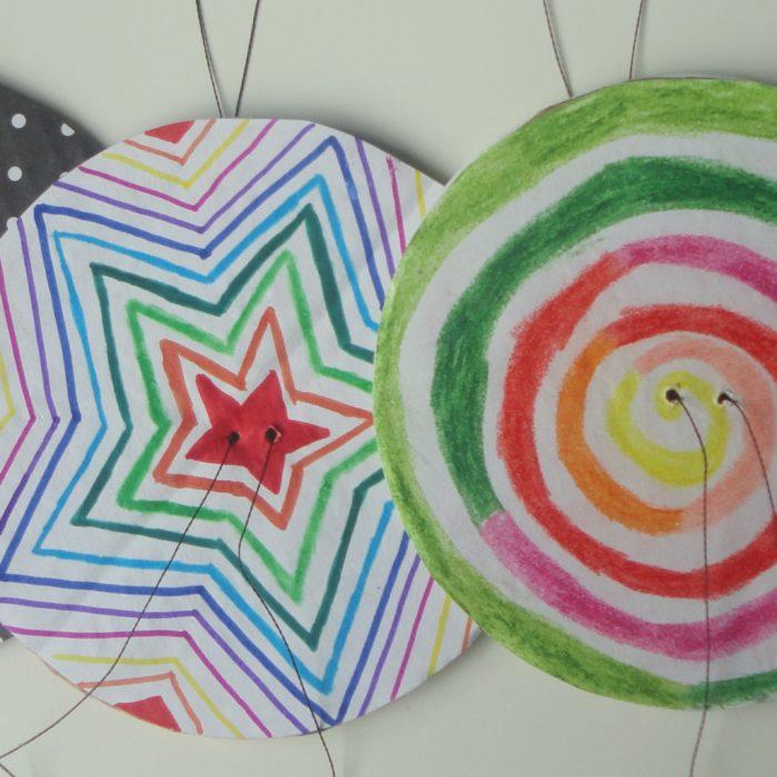 Przykłady kolorowych spinnerów