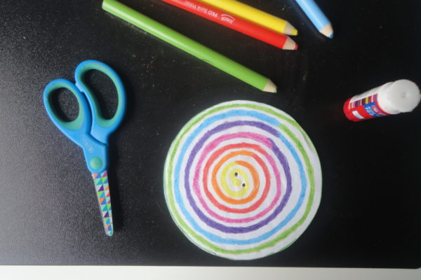 Kolorowy spinner - wykonanie