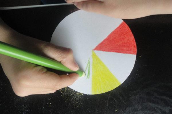 Kolorowy spinner - malowanie