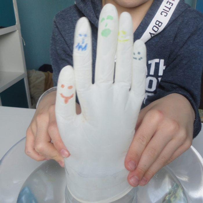Doświadczenie z rękawiczką