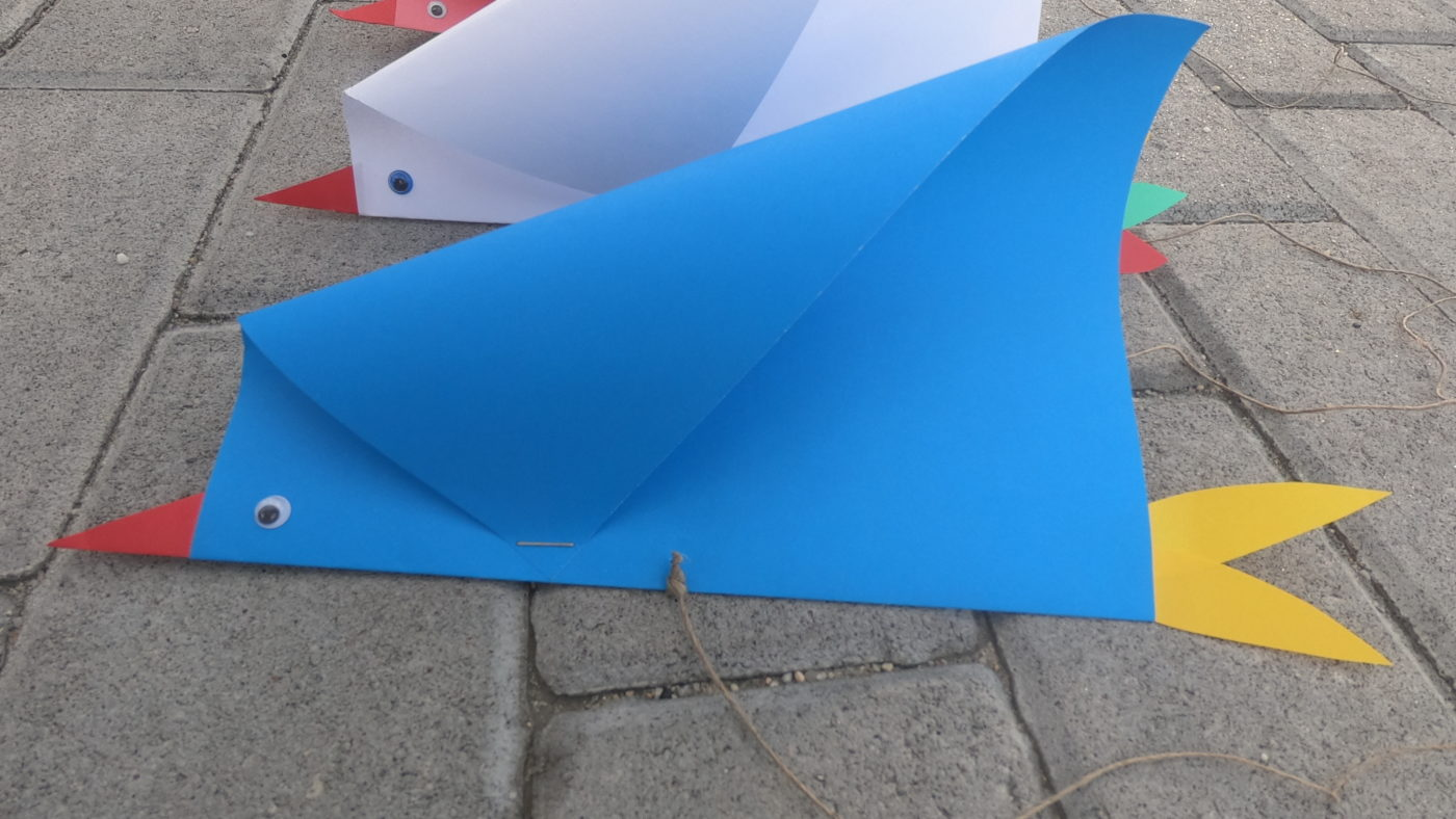 Latawiec z papieru - ptak