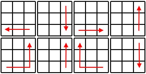 Kostka Rubika - schemat krok 2a