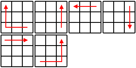 Kostka Rubika - schemat krok 3a