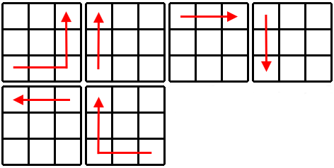 Kostka Rubika - schemat krok 3b