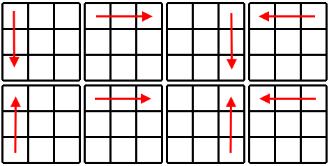 Kostka Rubika - schemat krok 4