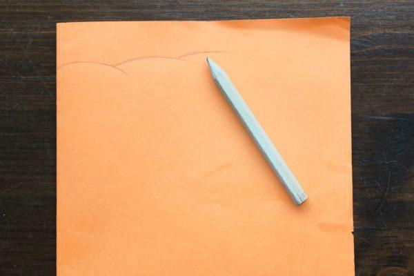 Witraż z papieru w kształcie dynii