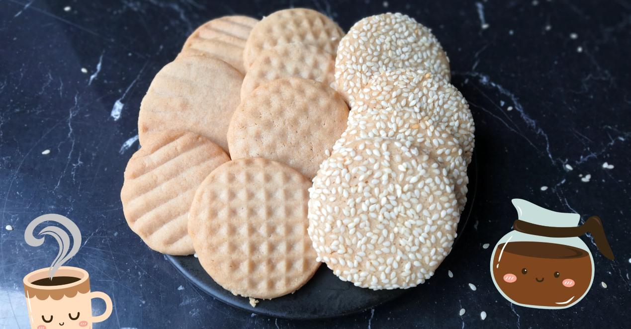 Łatwe ciasteczka z chałwą - sezam